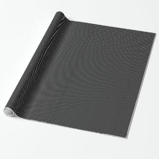 Diagonal pinstripes - black and white gift wrap