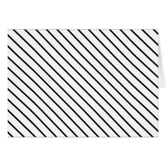 Diagonal pinstripes - white and black card