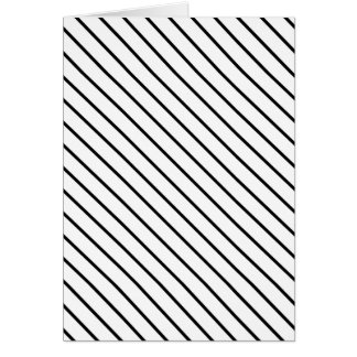 Diagonal pinstripes - white and black greeting card