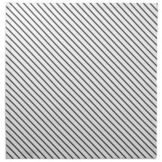 Diagonal pinstripes - white and black napkins