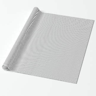 Diagonal pinstripes - white and black gift wrapping paper