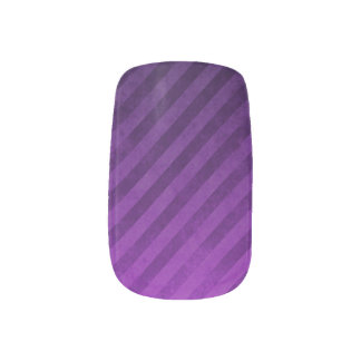 Diagonal Plum Nail Decals Nail Wrap