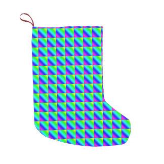 Diagonal Rainbow Gradient Tiled Small Christmas Stocking