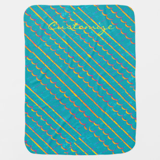diagonal shingle rows Thunder_Cove blue-green Baby Blanket