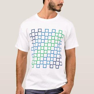 Diagonal stripe color spectrum pattern (black) T-Shirt
