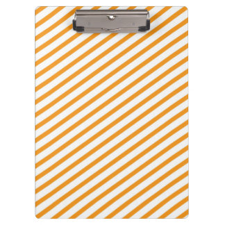 Diagonal Stripe Orange Pattern Clipboard