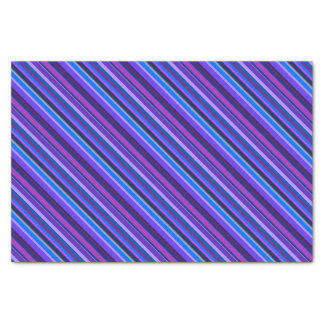 Diagonal stripes in blue and purple tissue paper