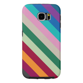 Diagonal Stripes In Fall Colors Samsung Galaxy S6 Cases
