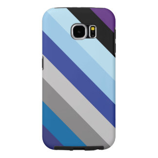 Diagonal Stripes In Winter Colors Samsung Galaxy S6 Cases
