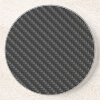Diagonal Tightly Woven Carbon Fiber Texture Coaster