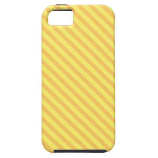 Diagonal yellow orange Stripes Tough iPhone 5 Case