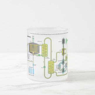Diagram of a Molten Salt Nuclear Fission Reactor Frosted Glass Mug