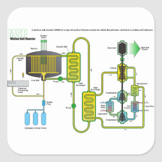 Diagram of a Molten Salt Nuclear Fission Reactor Sticker