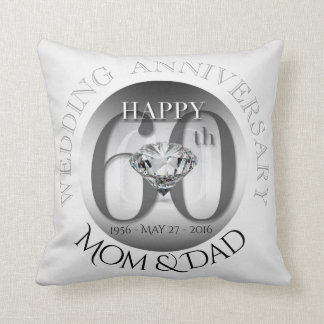 Diamond 60th Wedding Anniversary Pillow