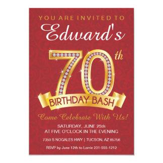 Diamond 70th Birthday Invitation Milestone Invite