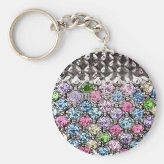 Diamond Basic Round Button Key Ring