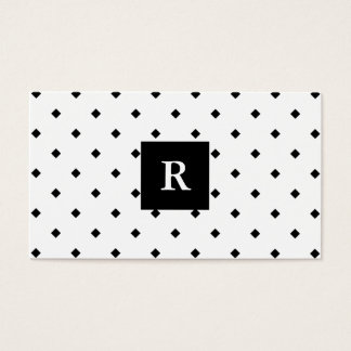 diamond black and white pattern business card