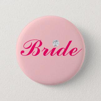 DIAMOND BRIDE 6 CM ROUND BADGE