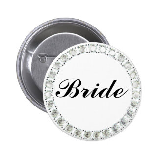 Diamond Bride-white 6 Cm Round Badge