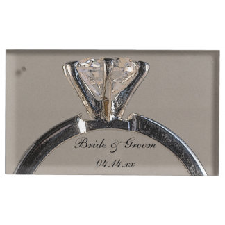 Diamond Engagement Ring Wedding Table Card Holder