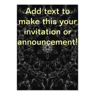 Diamond Flames Fractal 5x7 Paper Invitation Card
