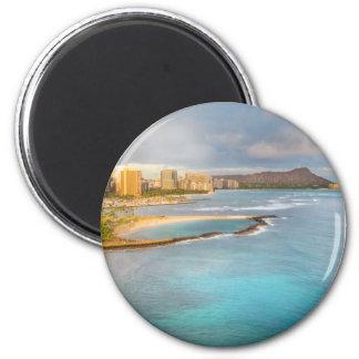 Diamond Head, Honolulu 6 Cm Round Magnet