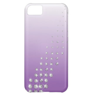 diamond on violet background case for iPhone 5C