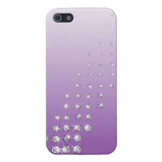 diamond on violet background iPhone 5 cases