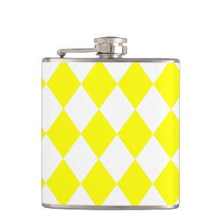 DIAMOND PATTERN in Bright Yellow ~ Hip Flask