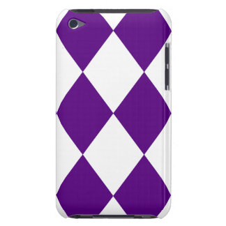 DIAMOND PATTERN in Deep Purple Barely There iPod Cases