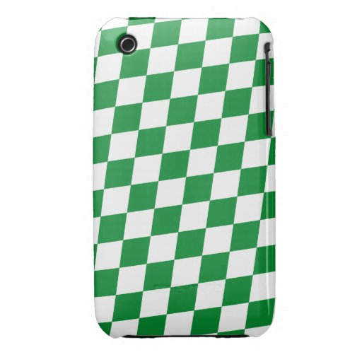 DIAMOND PATTERN in Green iPhone 3 Cover