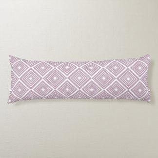 Diamond Pattern Purple and White Body Cushion