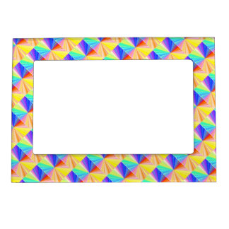 Diamond Patterns Sparkles Borders Magnetic Picture Frame
