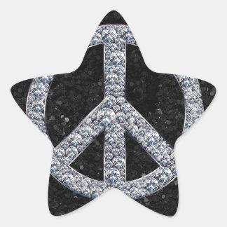 Diamond Peace Sign Star Stickers