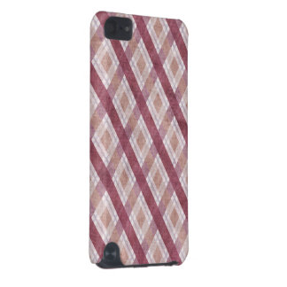 Diamond Plaid Red iPod Touch (5th Generation) Covers