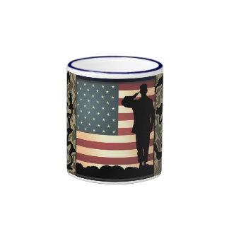 Diamond Plate Camo American Toops Coffee Mug