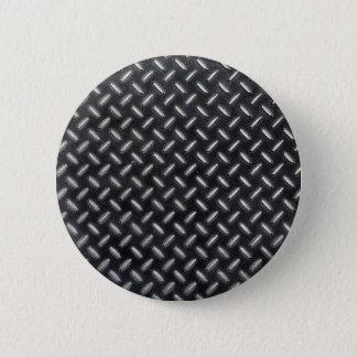 diamond-plate pattern 6 cm round badge