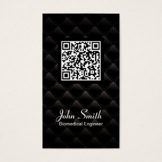 Diamond Quilt QR Code Biomedical Business Card
