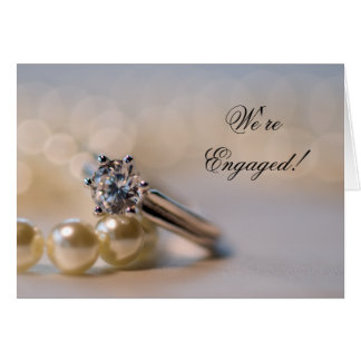Diamond Ring and Pearls Engagement Announcement