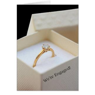 Diamond ring engagement announcement
