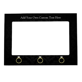 Diamond Ring on Black Magnetic Picture Frame