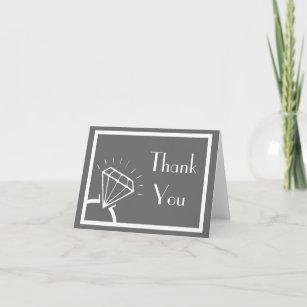 Diamond Ring Silhouette Thank You (Dark Grey)