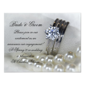 Diamond Rings and Pearls Engagement Announcement