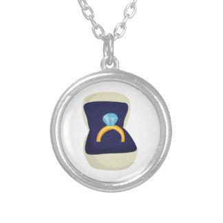 Diamond Solitaire Round Pendant Necklace