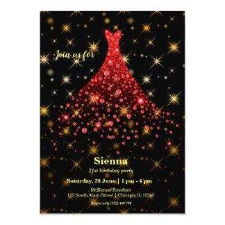 Diamond sparkling gown card