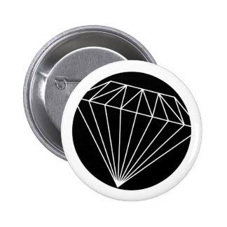 Diamond that shone 6 cm round badge