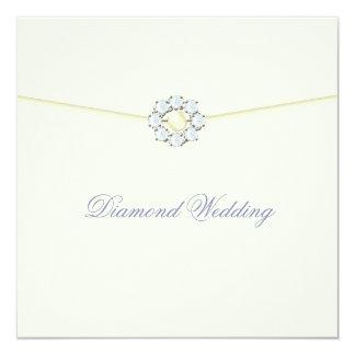 Diamond Wedding Anniversary with Diamond Broach Card