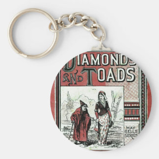 Diamonds And Toads Basic Round Button Key Ring