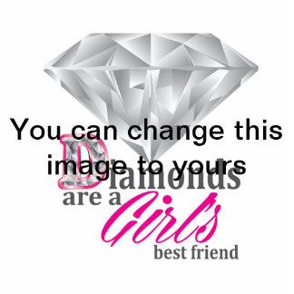 Diamonds are a girl's best friend standing photo sculpture