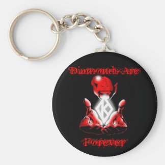 Diamonds are Forever Basic Round Button Key Ring